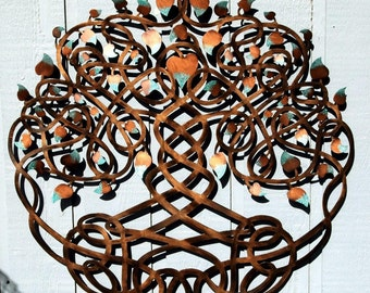 Eternity Tree of Life (Copper Patina Sparkle)