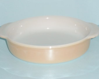 Fire King Copper Tint 8 Inch Round Glass Cake Pan No. 450 Glass Pan From Anchor Hocking Vintage Cake Pan