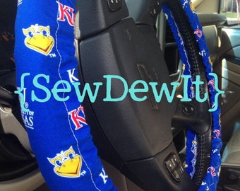 Steering Wheel Cover University of Kansas Jayhawks