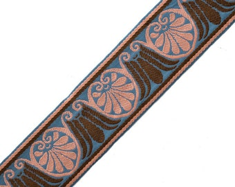 "1-7/8"" Heavy Jacquard Ribbon Trim by yard, SP-2332"