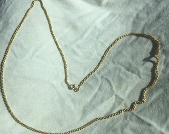 Vintage 18 K Solid Gold Heavy Thick Rope Twist Chain Necklace Beautiful