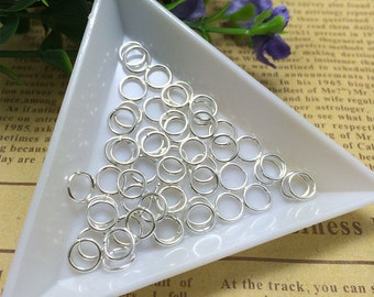 200 - 6mm Silver Plated Jump Rings