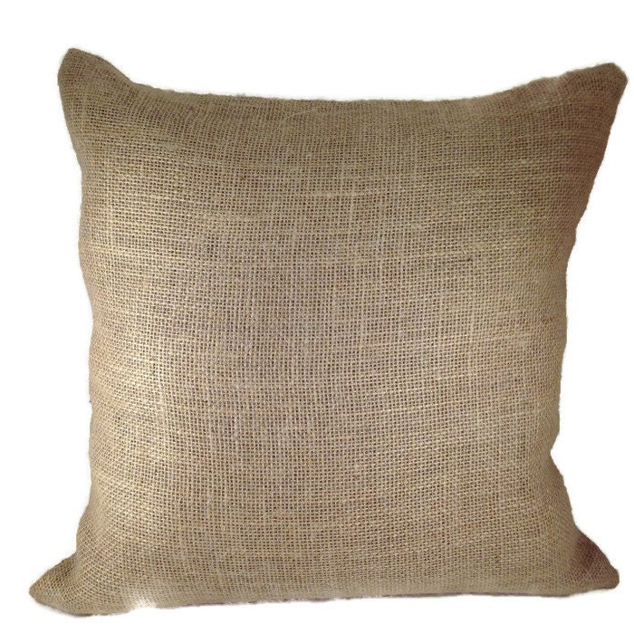 Blank Decorative Pillow Covers : Burlap pillow cover / Blank burlap pillow cover / Pillow cover