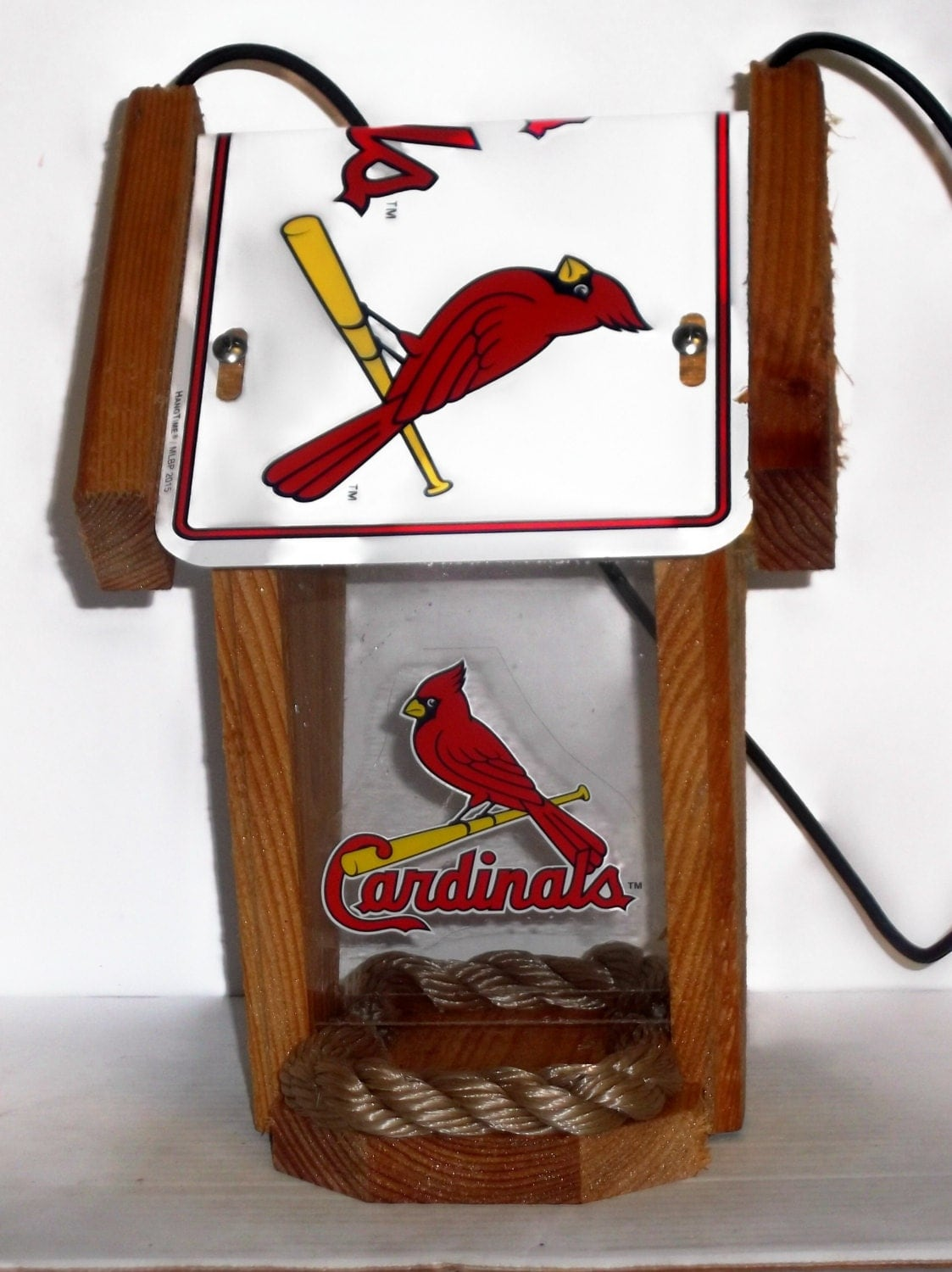 St louis cardinals two sided cedar bird feeder 2 for Craft stores st louis