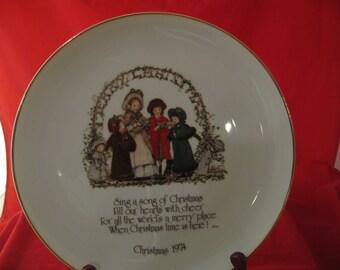 Christmas 1974 collector plate