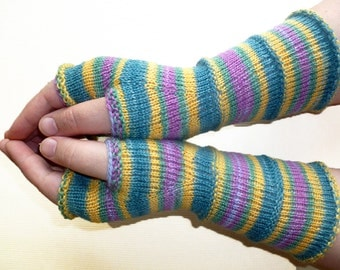 Knit Fingerless gloves | Knitted Fingerless Mittens | Long Arm Warmers | Boho Glove | Women Fingerless | Wrist Warmers