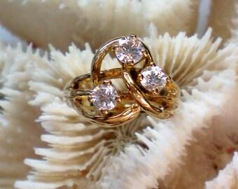 Bold Three Stone CZ Ring - 4741