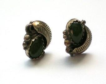 Jade Teardrop Pierced Earrings - 4473