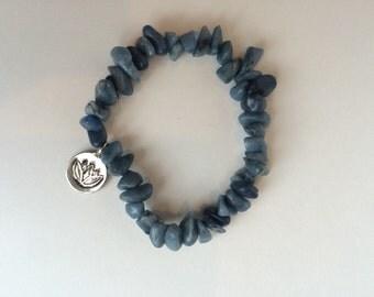 Lotus Blue Stone Chip Bracelet