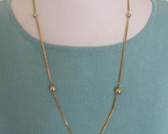 "Beautiful Gold Plated Chain 24"" Inch Long Necklace  -  Affordable Jewelry!!"