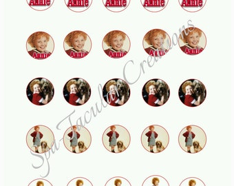Annie Bottle Cap Labels (Digital File ONLY)