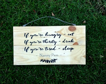 CUSTOM QUOTE SIGN, Custom Wooden Sign, Wooden sign, Photo Prop, Personalized Sign, Birthday Gift | 40cm x 28cm