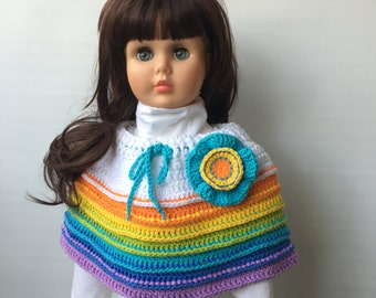 Crochet Pattern * RAINBOW CAPE * PDF Instant download # 518 * Spring * Summer * Blooming Season Collection * 18 month to 10 years * girls