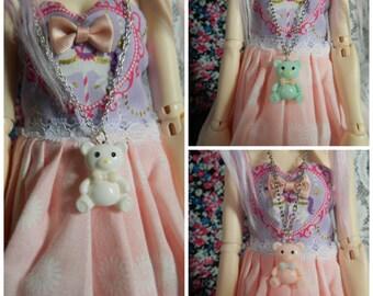 1/4 Bjd Msd Teddy Bear Necklaces