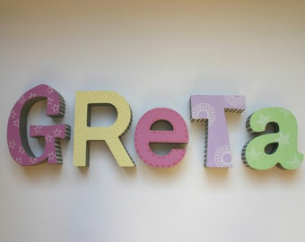 Wooden letters / wooden letters to set up