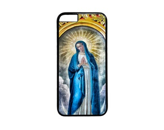 Christian Catholic Virgin Mary Maria Black Or White case for iPhone 4 4s 5 5s  5C 6 6s 6 Plus 7 7 Plus iPod Touch 4 5 6 case Cover