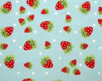 Fabric, Strawberry Festival, Berries on Light Blue, In the Beginning, By The Yard