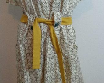 HALF PRICE:Vintage Dress Retro Vintage 70s Mad Men Style Vintage Modest Dress