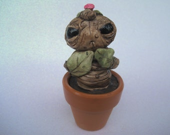 Cute Creature Potted Baby Tree Monster Plant Sculpture