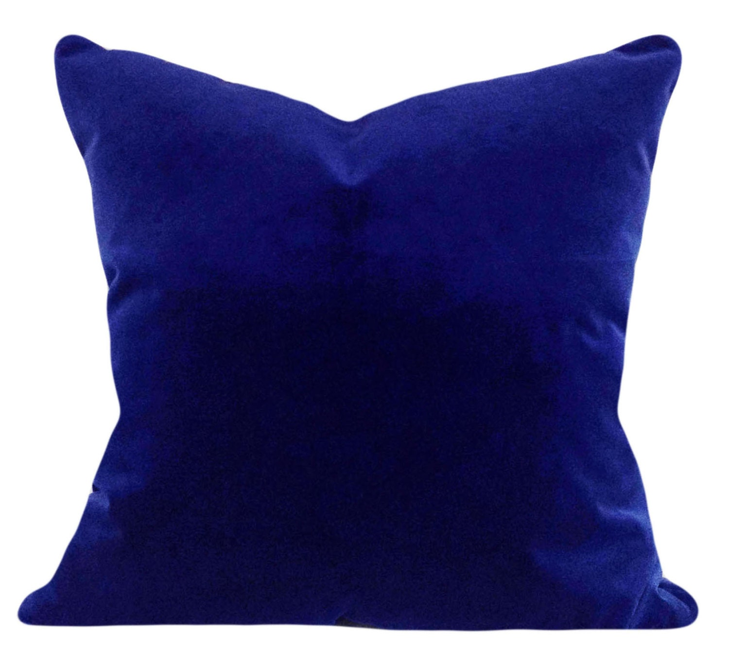 Royal Blue Velvet Decorative Pillow Cover by PillowTimeGirls