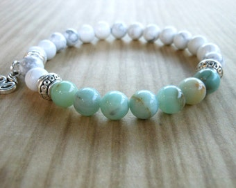 Amazonite Mala Bracelet, Healing & Balancing, Mala Bracelet, Yoga, Buddhist, Meditation, Prayer Beads