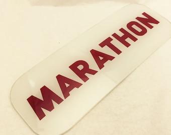 Vintage Marathon Gas Pump Curved Ad Glass - #GP102