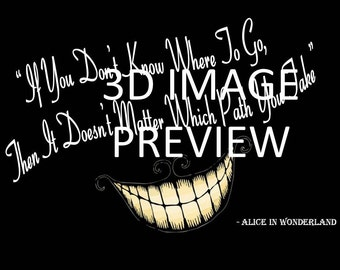 Cheshire Cat Quote - Digital PDF Print A4