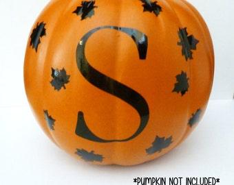 Personalized Pumpkin Decal, Monogram Pumpkin Decal, Halloween Vinyl Decal,Halloween Pumpkin Decal,Halloween Decor,Pumpkin Sticker,Fall Decor