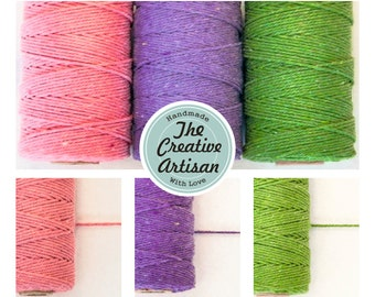 12 Ply 2mm Thick Cotton Bakers Twine Solid Colour for Gift Wrapping/Paper Crafts/Embellishment