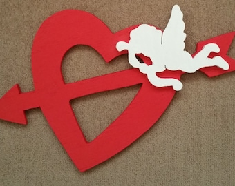 Red Cupid Heart