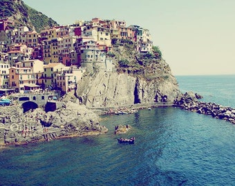 Italy Photography, Cinque Terre Print, Italy Art, Colorful Italian City, Travel Photography,  Manarola, Landscape Photography