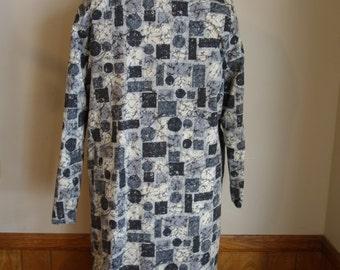 Vintage 1950s 50s reversible atomic print raincoat