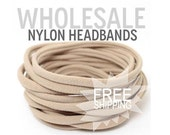 WHOLESALE Non-Marking Headband / Wholesale Spandex Headband / Skinny Very Stretchy One Size Fits most Nylon