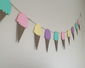 Ice Cream Banner - Perfect for Birthday Parties - Ice Cream Party - Ice Cream Sundaes - Ice Cream and Popsicles
