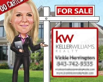 "Real Estate ""For Sale"" Illustration (style#01)"