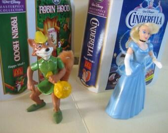 Walt Disney's CINDERELLA and ROBIN HOOD Figures