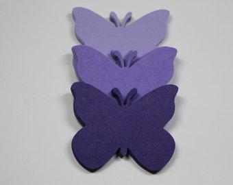 60 Purple Butterfly Die Cuts