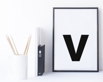Quote Print and/or Frame - Letter 'v'