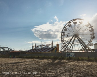 Old Orchard Beach Maine Ferris Wheel - Landscape Fine Art Photography