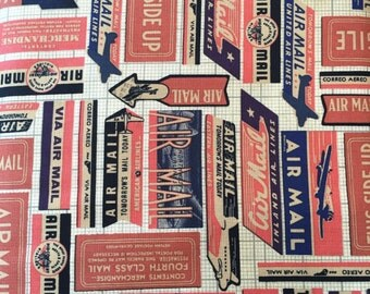 Correspondence Air Mail by Tim Holtz for Westminster Fabrics - 1/2 yard