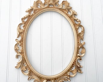 Baroque Picture Frame - French Frame - Oval Picture Frame - Wedding Frame - Nursery Frames - Backless Frame - Ornate Frame - Shabby Chic