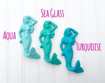 Set of 3 Mermaid Wall Hooks - Mermaid Decor - Mermaids - Entryway Hooks - Bathroom Decor - Bedroom Decor - Coastal Decor - Beach Decor