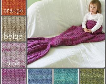 Mermaid Blanket, Child Mermaid Blanket, Chunky Blanket Crochet, Chunky Mermaid Blanket, Pink Mermaid Blanket, Toddler Mermaid Blanket