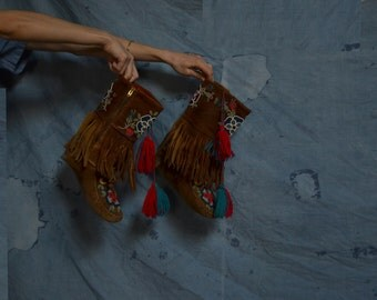 RESERVED BEADED MOCCASINS