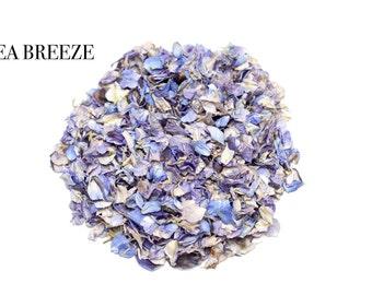 Pale blue natural biodegradable wedding confetti petals 1 litre (Sea Breeze)