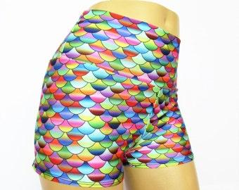 Mermaid shorts  Pinup Shorts shorty shorts