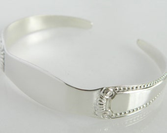 Wonderful Vintage Sterling Silver Flatware Cuff Bracelet
