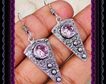 Quartz Pink Topaz  Earrings