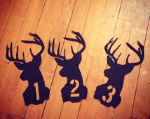 Rustic Table Number/Wedding Table Numbers/Deer Table Number/Custom Table Number/Country Table Numbers/Woodland Wedding/Table Decorations