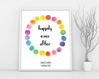 Gay Wedding Gift, Unframed, Gay Couples Gift, Gay Engagement Gifts, Lesbian Wedding Gift, Lesbian Anniversary, Lesbian Couple, LGBT Pride